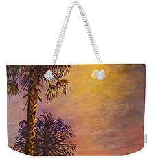 Tropical Moon Weekender Tote Bag by Lou Ann Bagnall