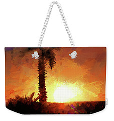 Tropical Sunset Weekender Tote Bag by Scott Cameron
