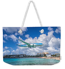 Tui Airlines Netherlands Landing At St. Maarten Airport. Weekender Tote Bag