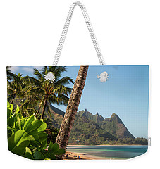 Tunnels Beach Haena Kauai Hawaii Bali Hai Weekender Tote Bag