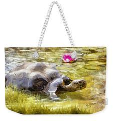 Turtle Takes A Swim Weekender Tote Bag by Ricky Dean