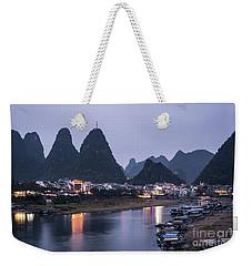 Twilight Over The Lijang River In Yangshuo Weekender Tote Bag