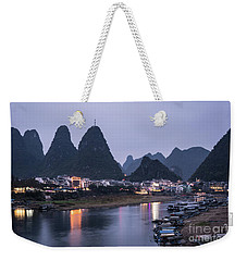 Twilight Over The Lijang River In Yangshuo Weekender Tote Bag
