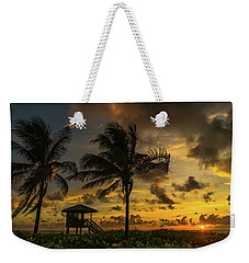 Two Palm Sunrise Delray Beach Florida Weekender Tote Bag