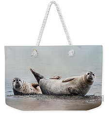 Weekender Tote Bag featuring the photograph Two's Company by Robin-Lee Vieira