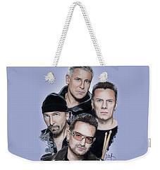 U2 Weekender Tote Bag by Melanie D