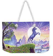 Unicorn Moon Weekender Tote Bag by Steve Crisp