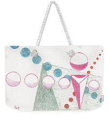 Weekender Tote Bag featuring the drawing Still Motion by Rod Ismay