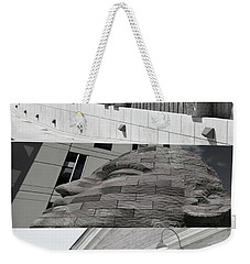 Weekender Tote Bag featuring the photograph Uptown Library by Susan Stone
