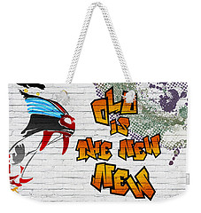 Urban Graffiti - Old Is The New New Weekender Tote Bag