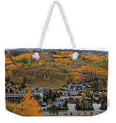 Vail Colorado Weekender Tote Bag by Fiona Kennard