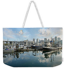 Vancouver Cityscape Weekender Tote Bag