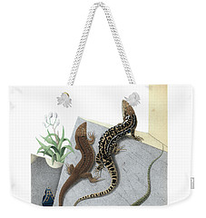 Varieties Of Wall Lizard Weekender Tote Bag