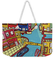 Weekender Tote Bag featuring the painting Venice by Artists With Autism Inc