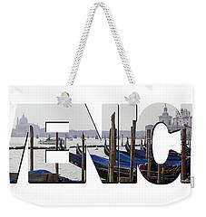 Venice Word Art Weekender Tote Bag