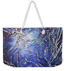 Weekender Tote Bag featuring the mixed media Venus by Angela Stout