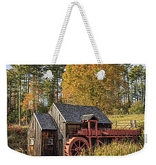 Weekender Tote Bag featuring the photograph Vermont Grist Mill by Edward Fielding
