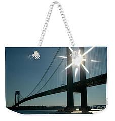 Verrazano Bridge Starburst Weekender Tote Bag