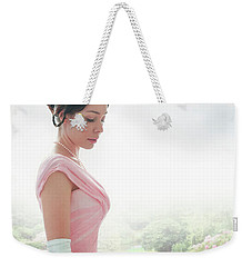 Victorian Woman In A Pink Ball Gown Weekender Tote Bag