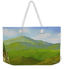 Weekender Tote Bag featuring the painting View From The Bluffs by Frank Wilson