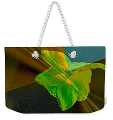 Weekender Tote Bag featuring the photograph View Of A Daffodil by Jeff Swan