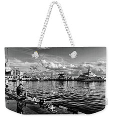 View Of The Naval Station Us And The Main Sea Channel Of The Port Of Sochi Weekender Tote Bag