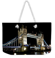 View Of The River Thames And Tower Bridge At Night Weekender Tote Bag
