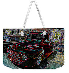 Vintage Chevy Truck Neon Art Weekender Tote Bag