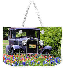 Weekender Tote Bag featuring the photograph Vintage Model T Ford Automobile by Robert Bellomy