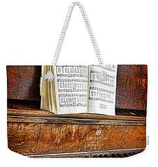 Vintage Piano Weekender Tote Bag by Jill Battaglia