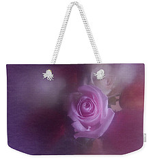 Weekender Tote Bag featuring the photograph Vintage Pink Rose Feb 2017 by Richard Cummings