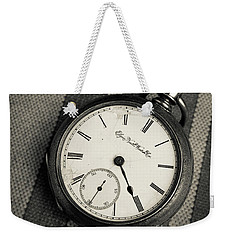 Weekender Tote Bag featuring the photograph Vintage Pocket Watch by Edward Fielding