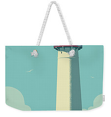 Vintage Style Cape May Lighthouse Travel Poster Weekender Tote Bag