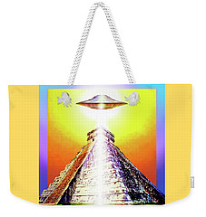 Weekender Tote Bag featuring the painting Visitor   by Hartmut Jager