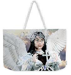 Vitiligo Angel Weekender Tote Bag by Suzanne Silvir