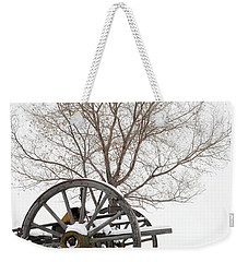 Wagon In The Snow Weekender Tote Bag