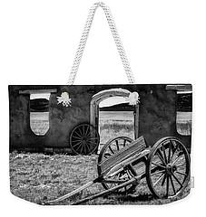 Wagon Wheels In Bw Weekender Tote Bag by James Barber