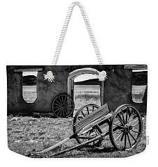 Wagon Wheels In Bw Weekender Tote Bag