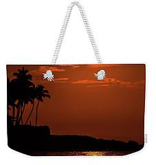 Weekender Tote Bag featuring the photograph Waikoloa Sunset by Pamela Walton