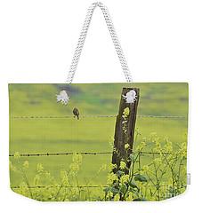 Warbler In The Meadow Weekender Tote Bag by Debby Pueschel