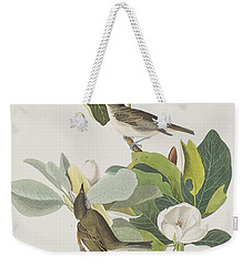 Warbling Flycatcher Weekender Tote Bag by John James Audubon