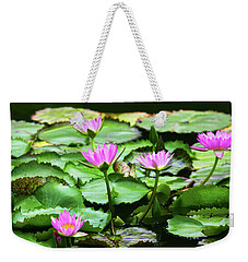 Weekender Tote Bag featuring the photograph Water Lilies by Anthony Jones