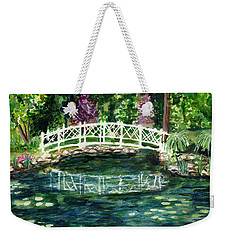 Water Lily Weekender Tote Bag by Clara Sue Beym