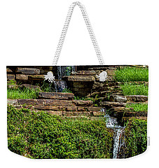 Water Over The Rocks One Weekender Tote Bag by Ken Frischkorn