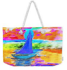 Watercolor Sailing Weekender Tote Bag
