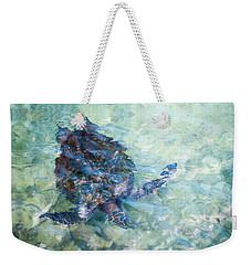 Watercolor Turtle Weekender Tote Bag