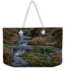 Weekender Tote Bag featuring the photograph Waterfall At Glendevon In Scotland by Jeremy Lavender Photography