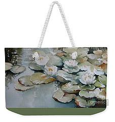Waterlilies Weekender Tote Bag by Elena Oleniuc