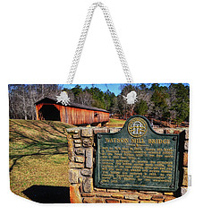 Watson Mill Covered Bridge 010 Weekender Tote Bag by George Bostian