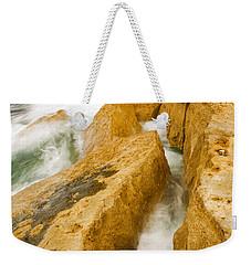 Waves Crashing Over Portland Bill Weekender Tote Bag